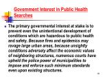 government interest in public health searches