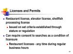 licenses and permits