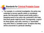 standards for criminal probable cause