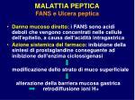 malattia peptica fans e ulcera peptica