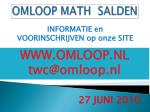 omloop math salden13