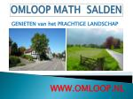 omloop math salden8