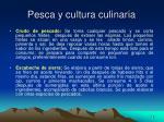pesca y cultura culinaria