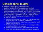 clinical panel review