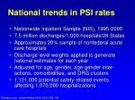 national trends in psi rates