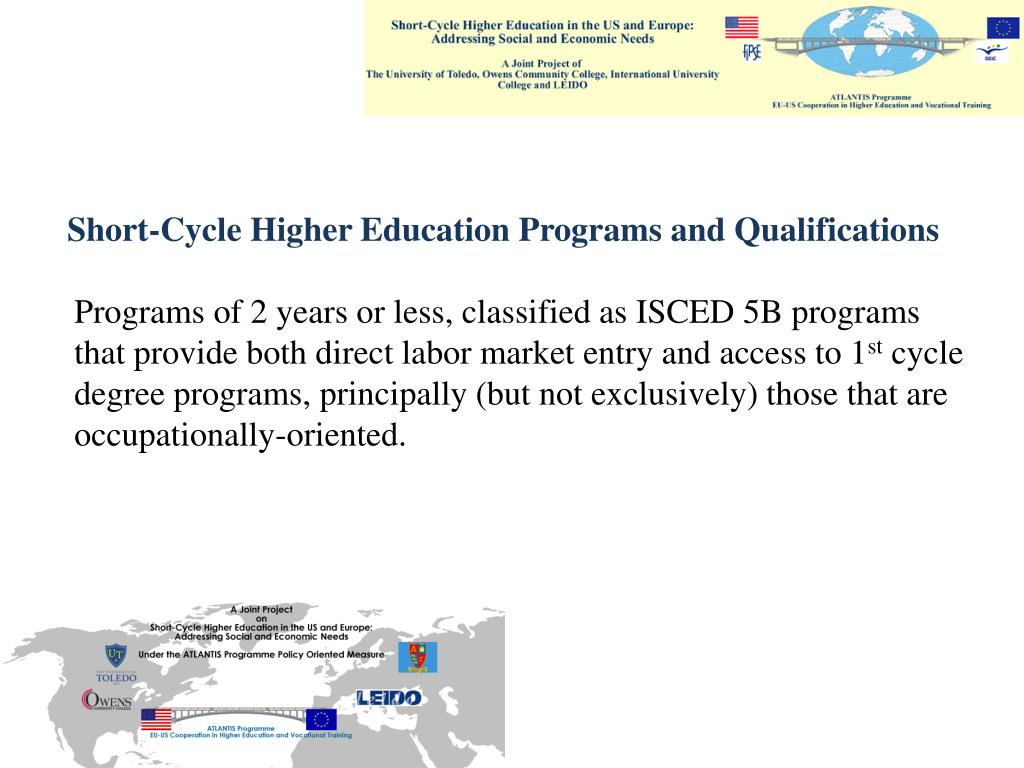Short-Cycle Higher Education Programs and Qualifications