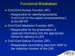 functional breakdown