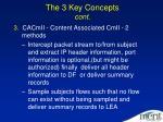 the 3 key concepts cont