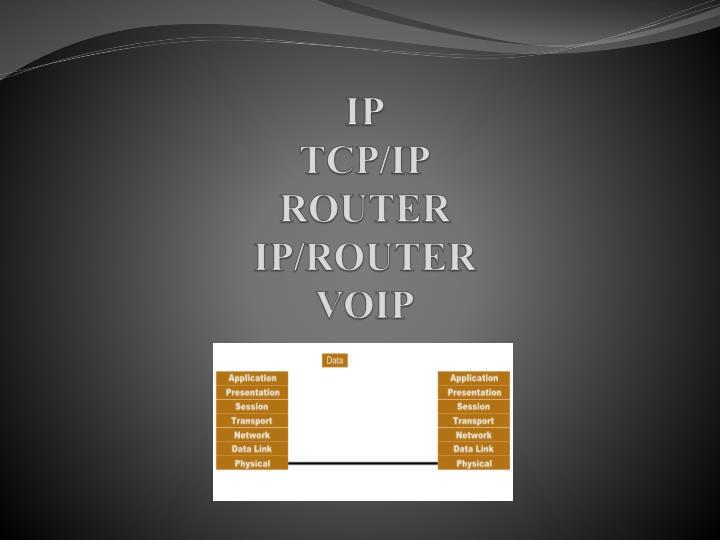 ip tcp ip router ip router voip n.