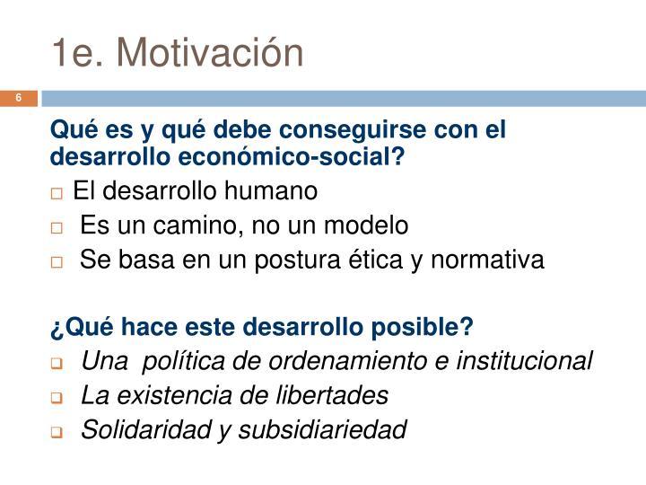 1e. Motivación