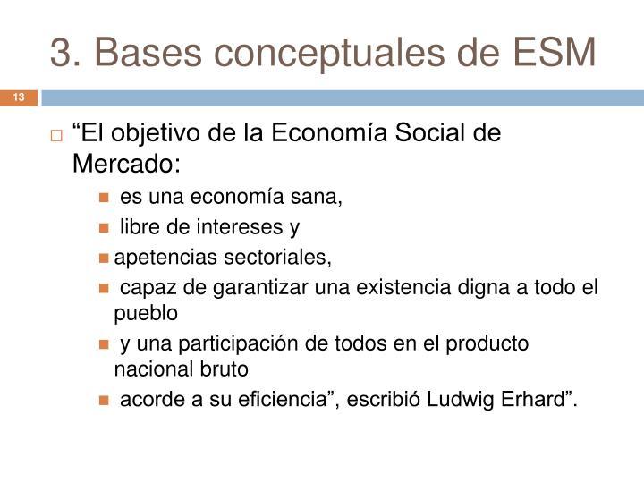 3. Bases conceptuales de ESM