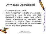 atividade operacional