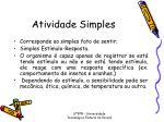 atividade simples