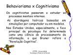 behaviorismo x cognitivismo1