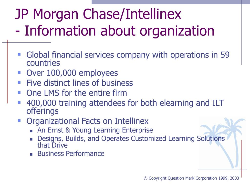 JP Morgan Chase/Intellinex