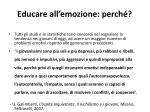 educare all emozione perch