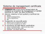 sisteme de management certificate