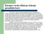 europos verslo ciklai po antrojo pasaulinio karo