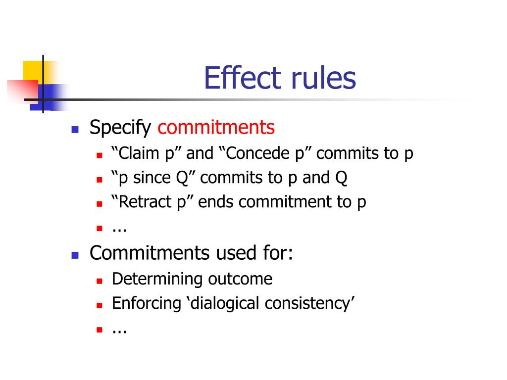 Effect rules