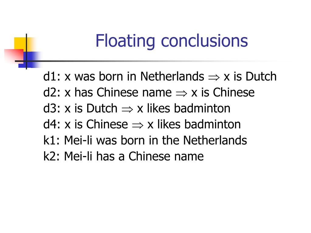Floating conclusions