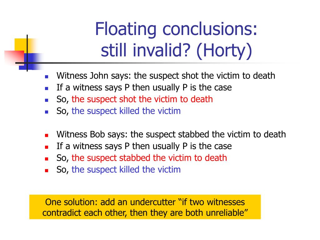 Floating conclusions: