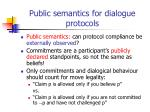 public semantics for dialogue protocols