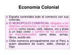 econom a colonial