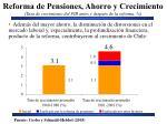 reforma de pensiones ahorro y crecimiento tasa de crecimiento del pib antes y despu s de la reforma