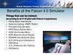 benefits of the falcon 4 0 simulator