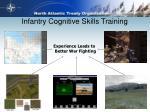 infantry cognitive skills training