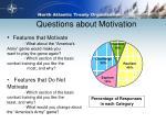 questions about motivation