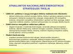 atnaujintos nacionalin s energetikos strategijos tikslai
