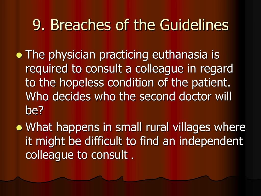 9. Breaches of the Guidelines