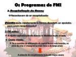 os programas do fmi10