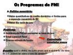 os programas do fmi11