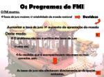 os programas do fmi12
