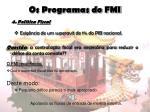 os programas do fmi14