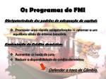 os programas do fmi5