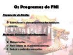 os programas do fmi6
