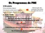 os programas do fmi9