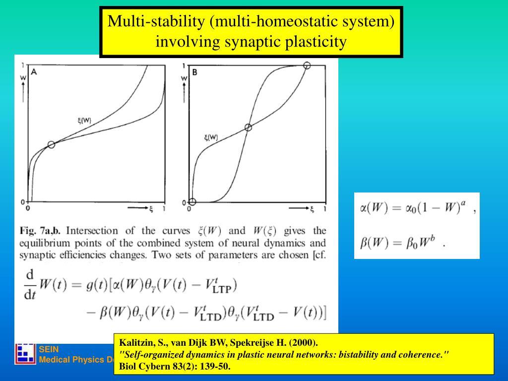 Multi-stability (multi-homeostatic system)