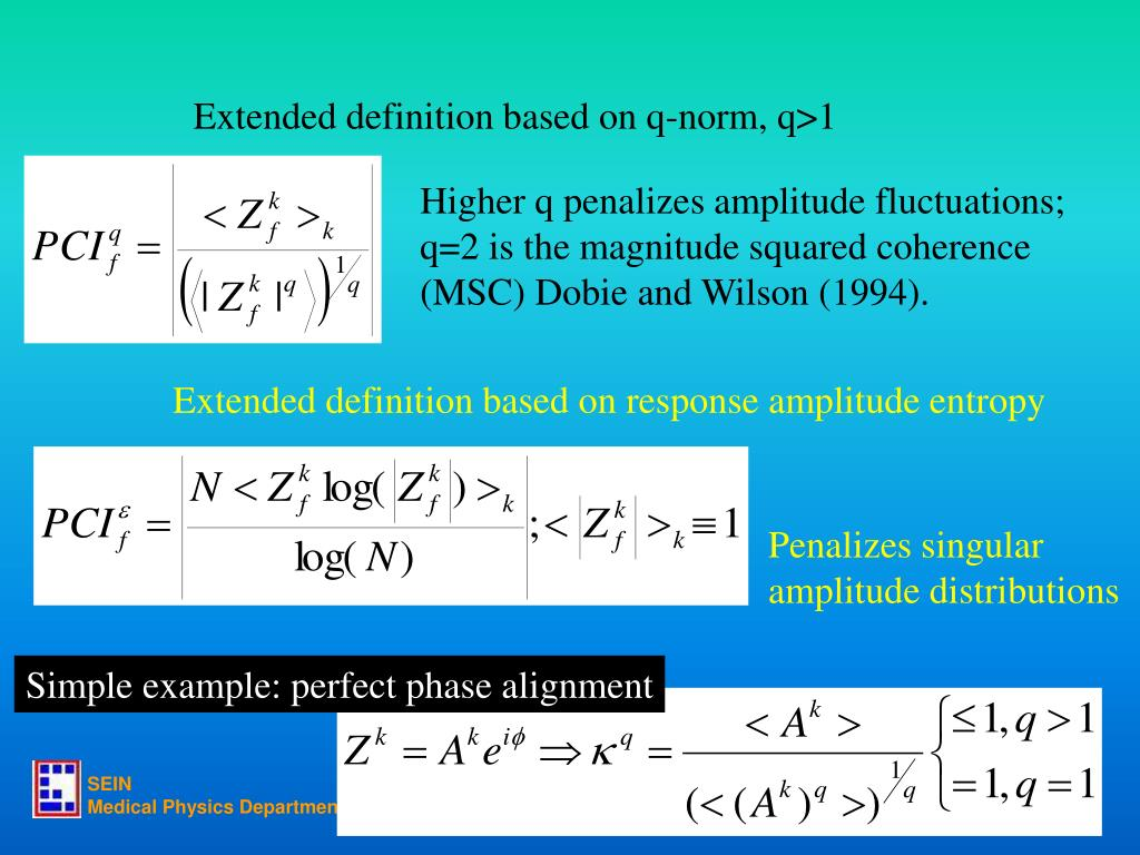 Extended definition based on q-norm, q>1
