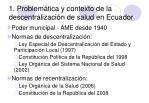 1 problem tica y contexto de la descentralizaci n de salud en ecuador