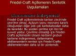 friedel craft a illemenin sentetik uygulamalar