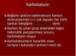 karbokatyon