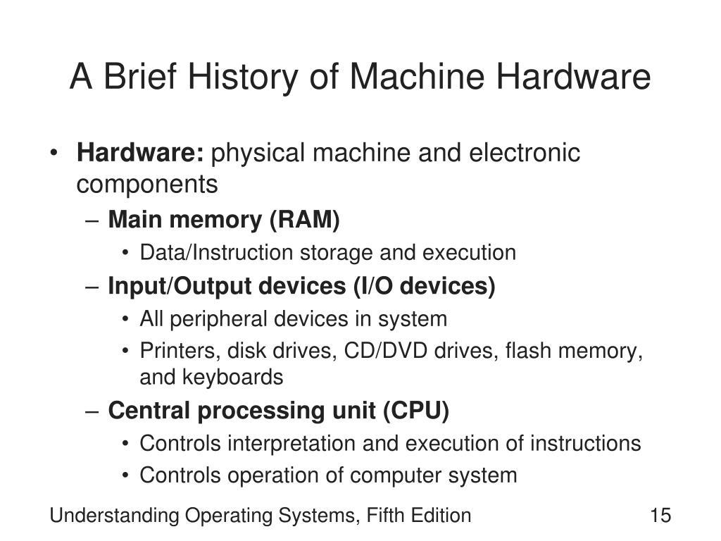 A Brief History of Machine Hardware