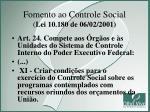 fomento ao controle social lei 10 180 de 06 02 2001