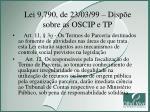 lei 9 790 de 23 03 99 disp e sobre as oscip e tp1