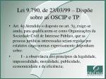 lei 9 790 de 23 03 99 disp e sobre as oscip e tp2