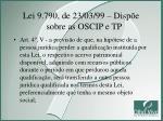 lei 9 790 de 23 03 99 disp e sobre as oscip e tp3